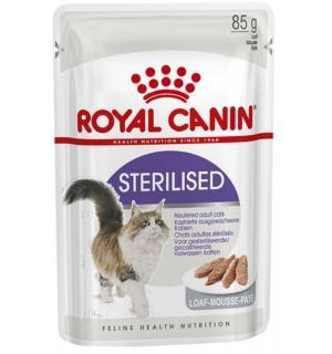Влажный корм ROYAL CANIN STERILISED LOAF, паштет для кошек после стерилизации 85 г.