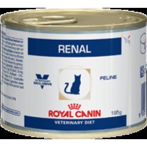Консервы ROYAL CANIN RENAL FELINE CHICKEN влажная диета для кошек (0,195 кг)