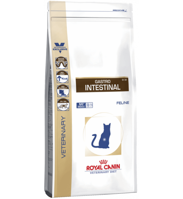 Сухой корм ROYAL CANIN Gastro-Intestinal Feline диета для кошек (2 кг)